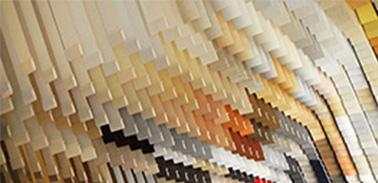Losse stoffen lamellen verticaal uni kleuren zónder railsysteem