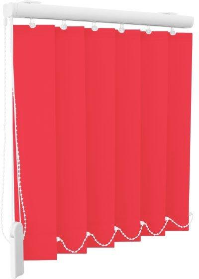 Rode lamellen gordijnen - BSL Raambekleding