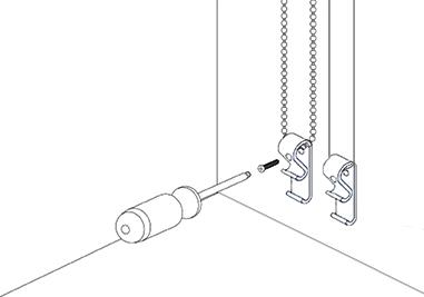 Montage kindveilige kettingspanner
